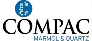 logo COMPAC MARMOL&QUARTZ letra mas gorda